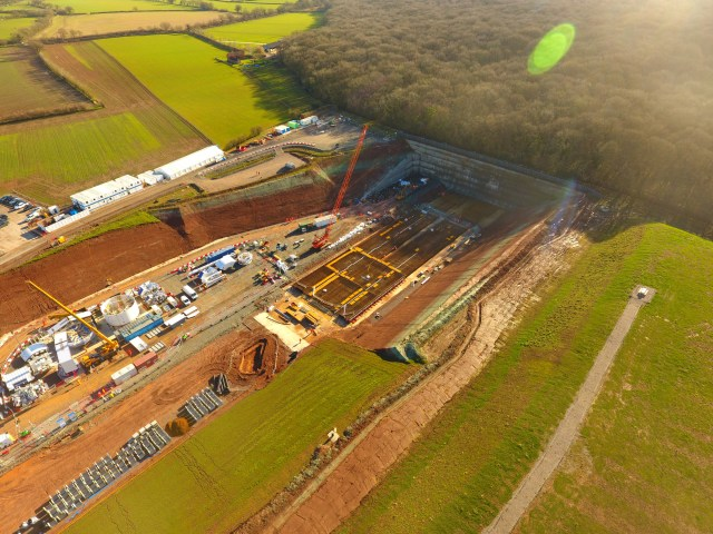 Collins Earthworks Drone Footage of Long Itchington Wood portal site