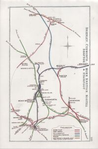 Railway Clearing House map showing tangle of lines in the area of the accident.