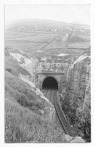 Queensbury tunnel north portal, in operational days.