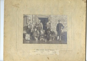 Mells colliery rescue team, incl Stephen Francis.