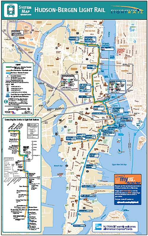 City York New Transit Map Jersey New