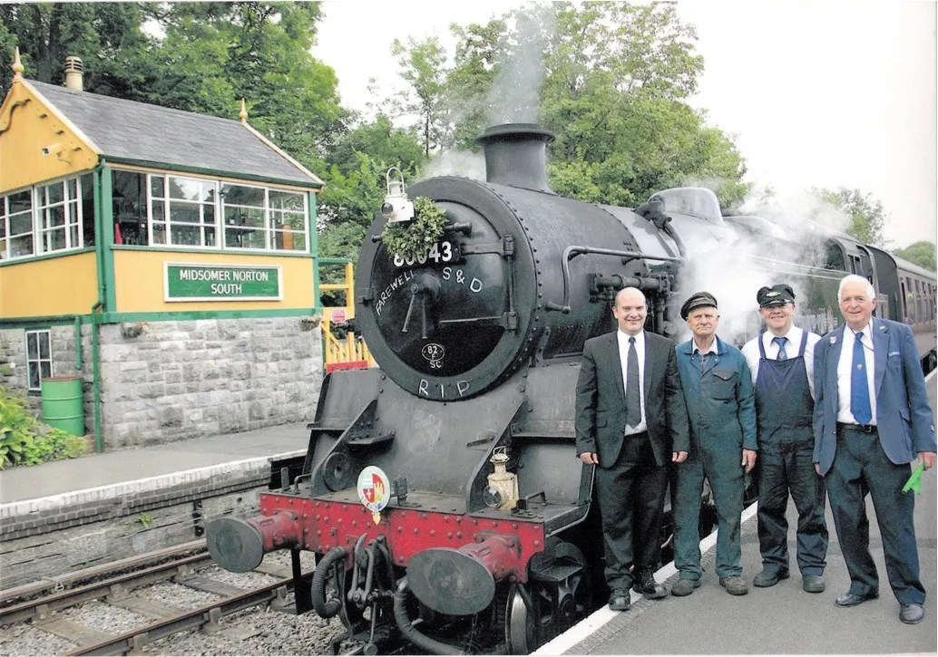 Heritage railway volunteer on the Somerset and Dorset Joint Railway