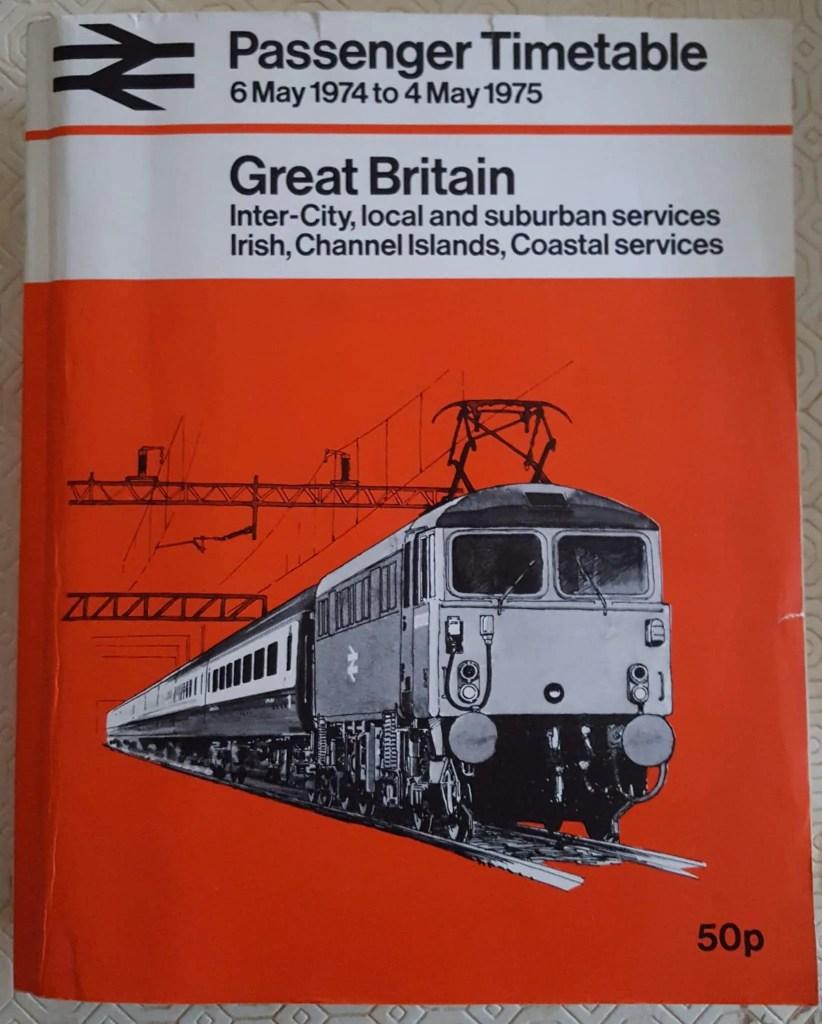 British Railways  trains 1970s Passenger Timetable  - 1970s trains