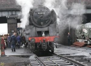 9F locomotive - 92212 - Loughborough - Great Central Railway
