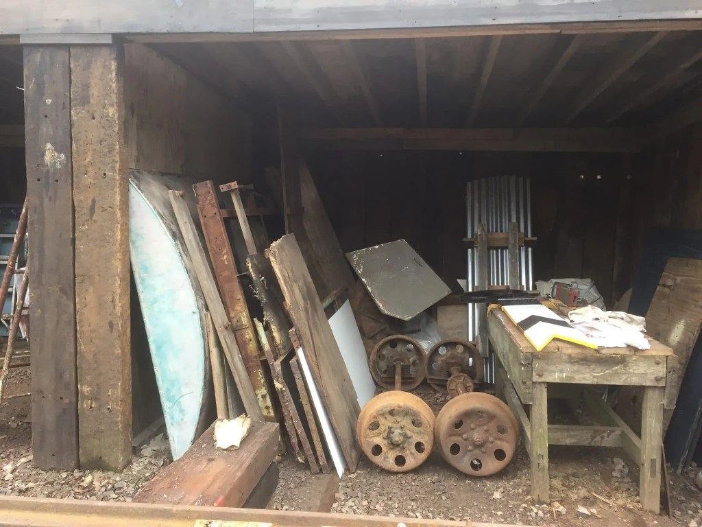 Wickham Trolley in pieces