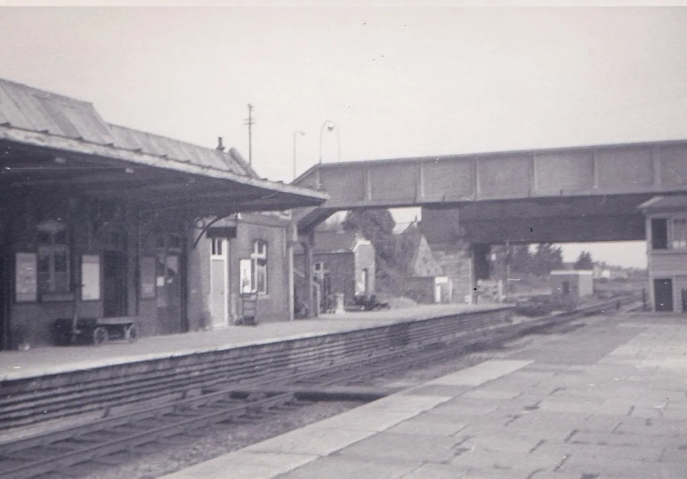 Highbridge and Burnham on Sea Railway Station June 1971