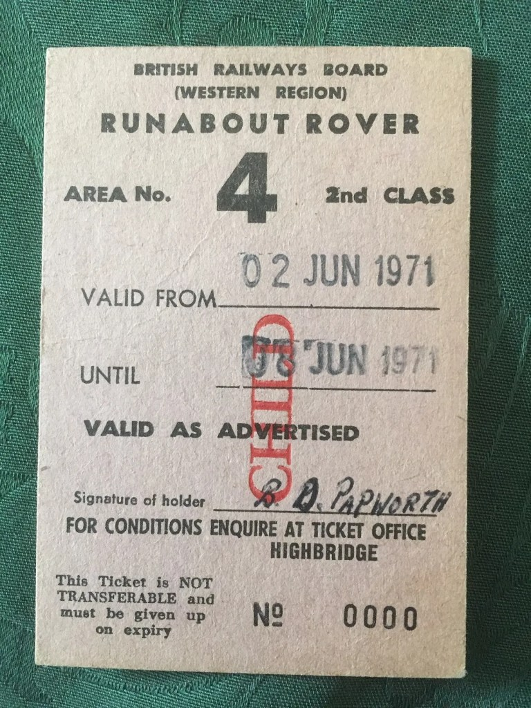 British Railways Trains 1970s runabout rover ticket