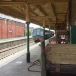 Metropolitan Cammell 2 car DMU - Dereham station - mid norfolk railway - 2017