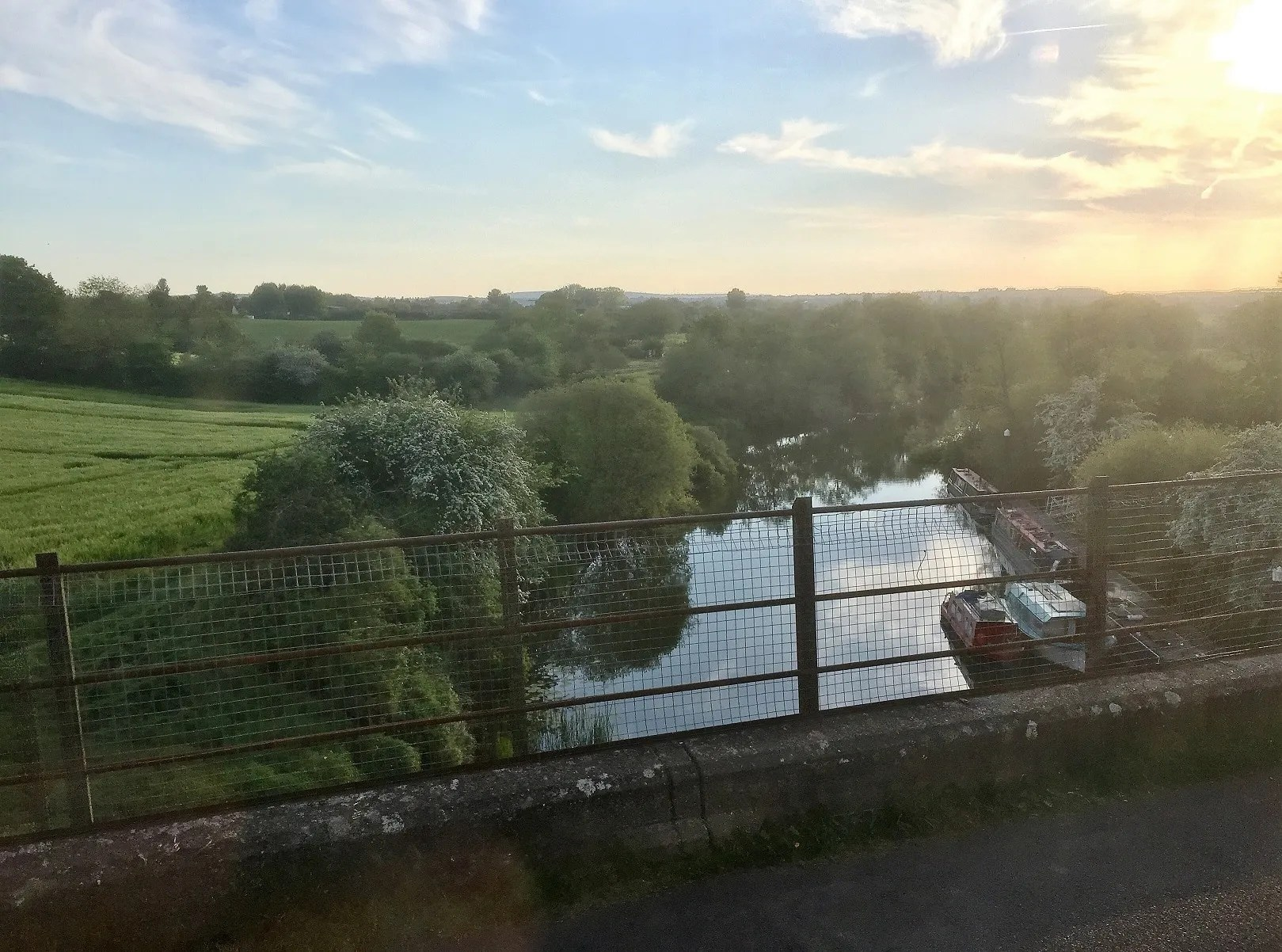 View from the Avon Valley Railway of the River Avon