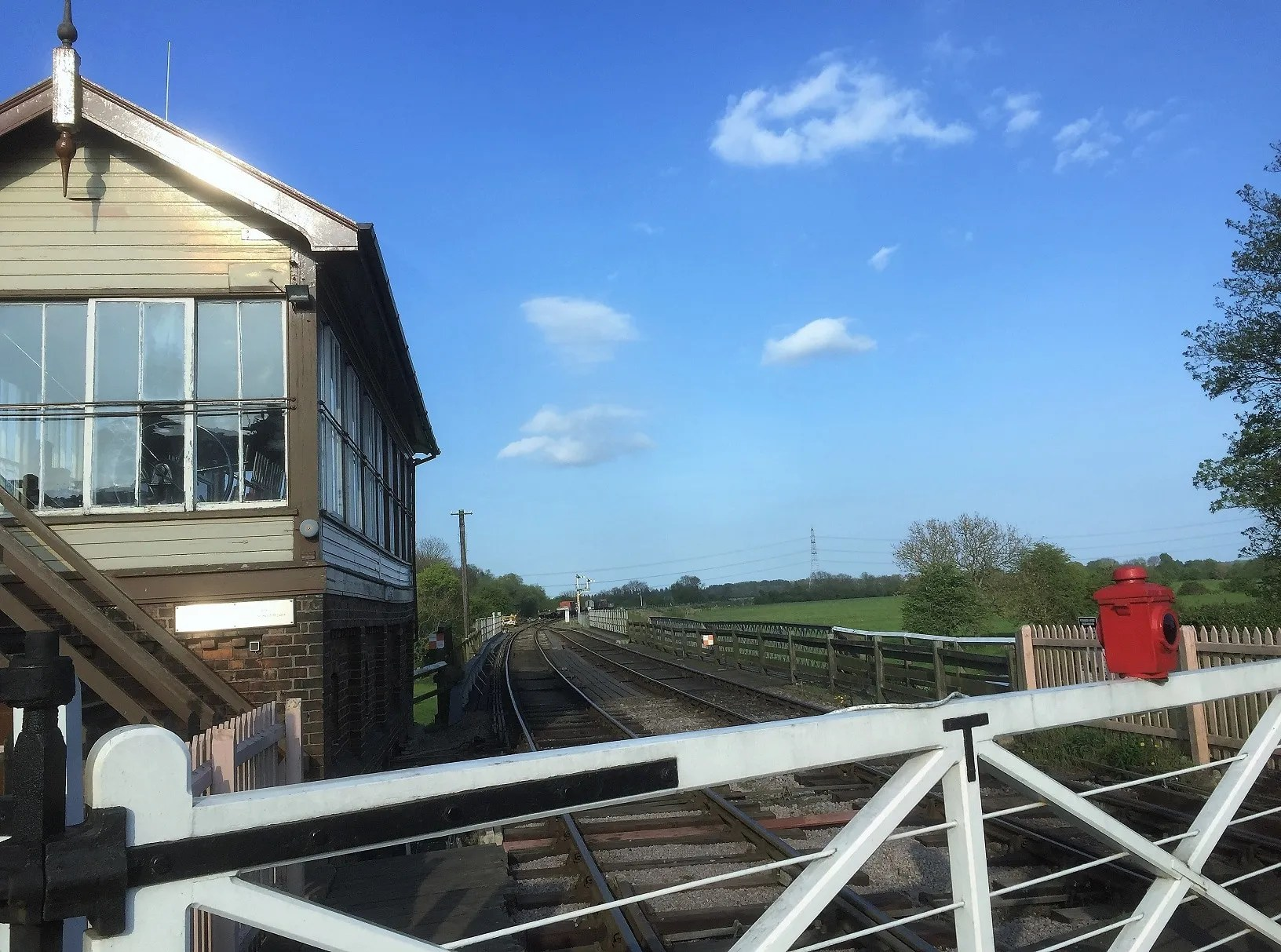 Wansford Signal Box on the Nene Valley Railway