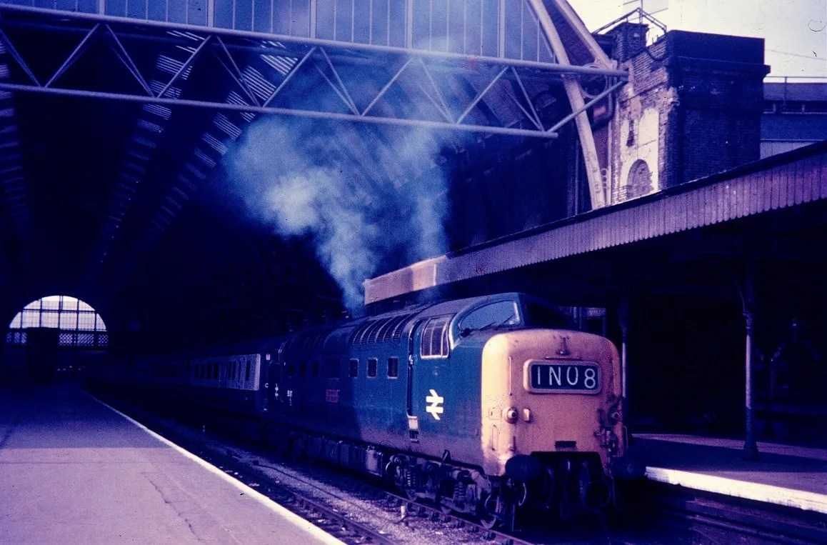 Old railway photo of Deltic at Kings Cross station