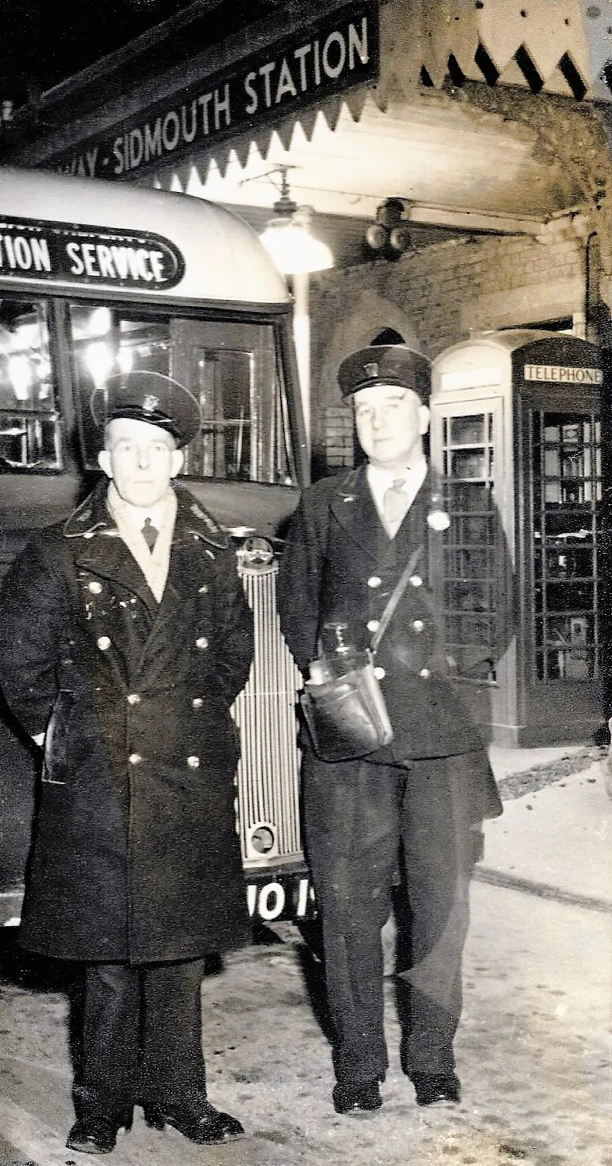 The Last bus Trip- Sidmouth station - 7.45pm 24th March 1951