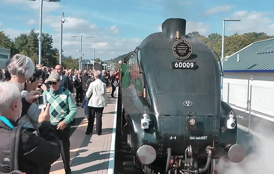 Waverley Route steam train trip on Union of South Sfrica - 60009