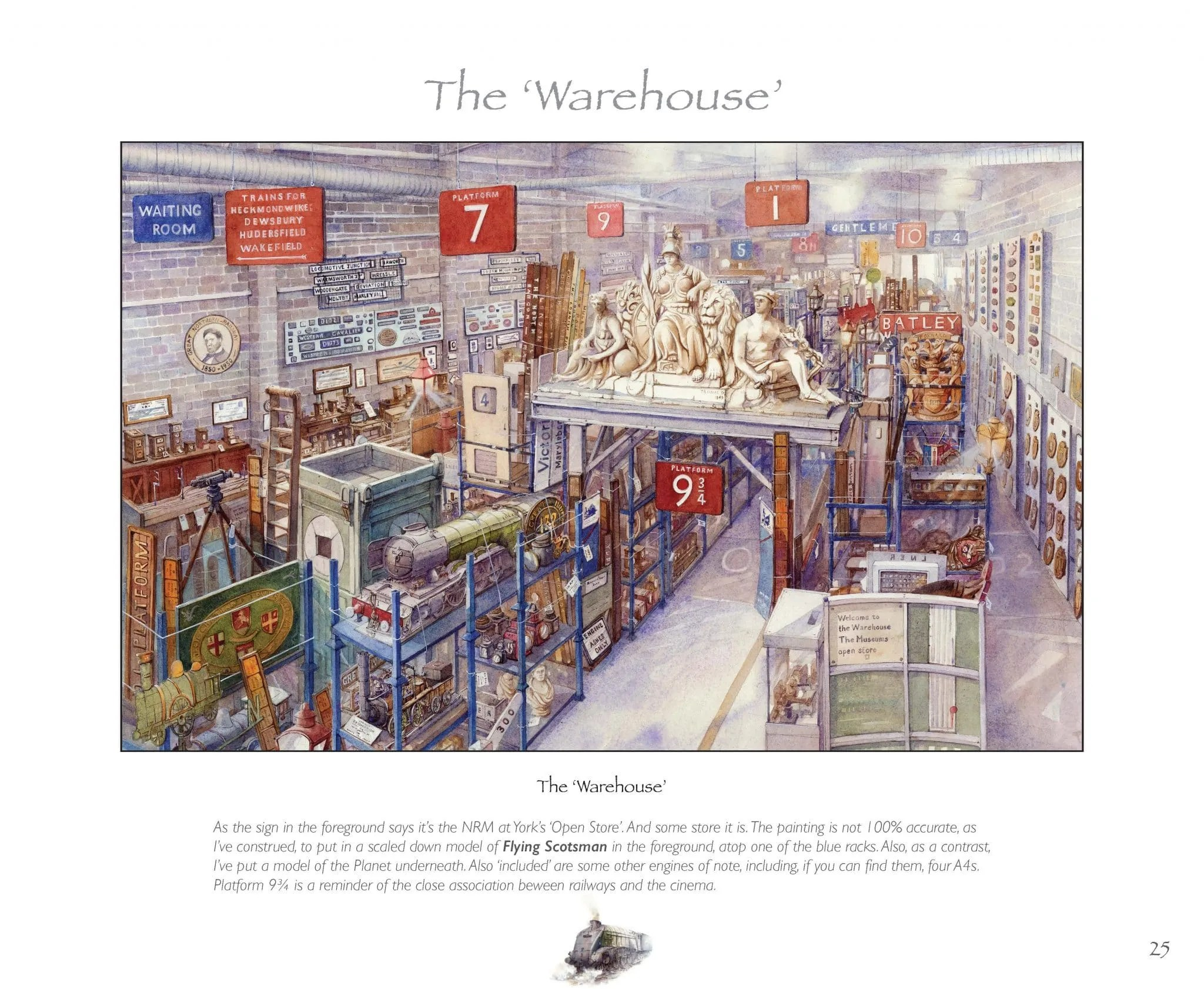 Railway Warehouse painting from Odyssey in Steam book