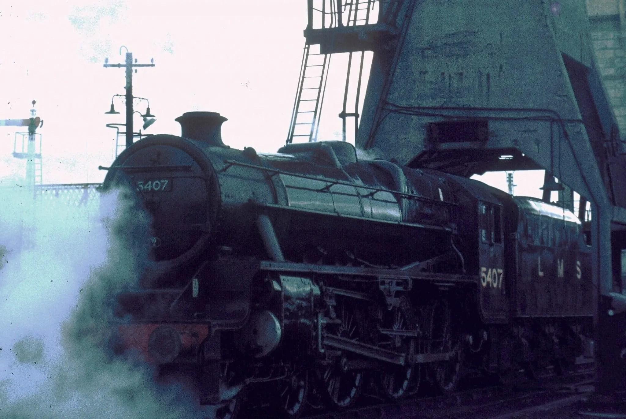 Stanier Black Five 5407 at Carnforth - steam locomotive