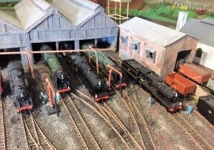 Ariel view of model railway 00 guage shed