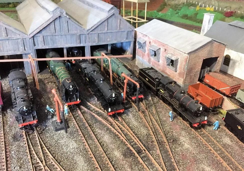 Ariel view of model railway 00 gauge shed