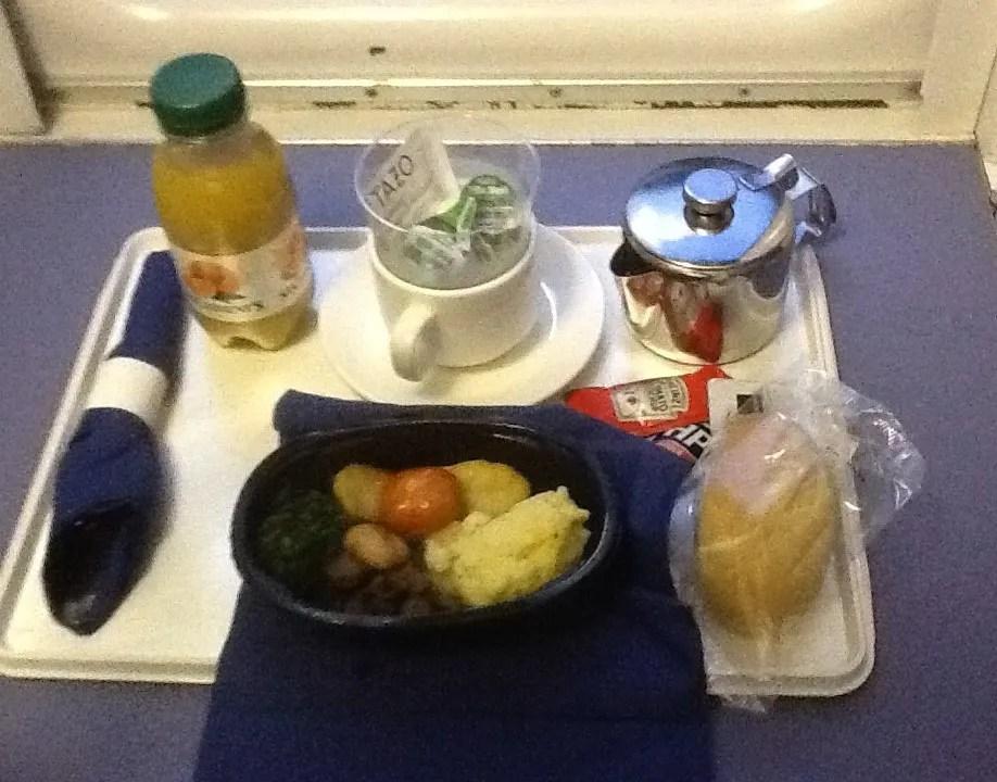 Breakfast on the Caledonian sleeper train