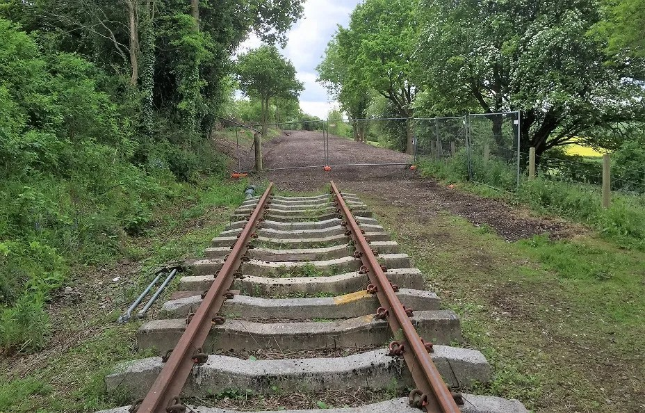 Somerset and Dorset railway track bed