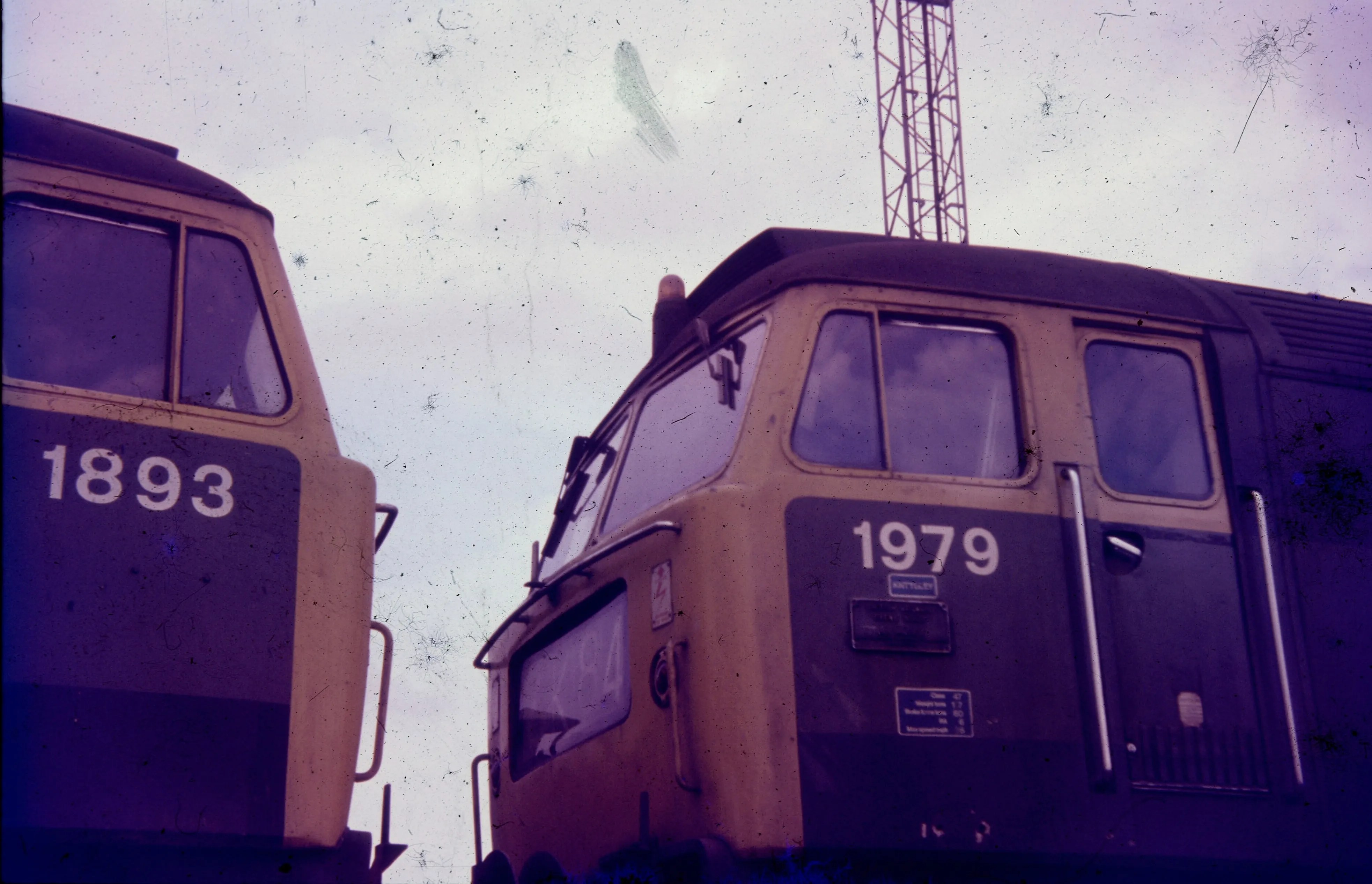 Class 47 locomotives at Crewe Works