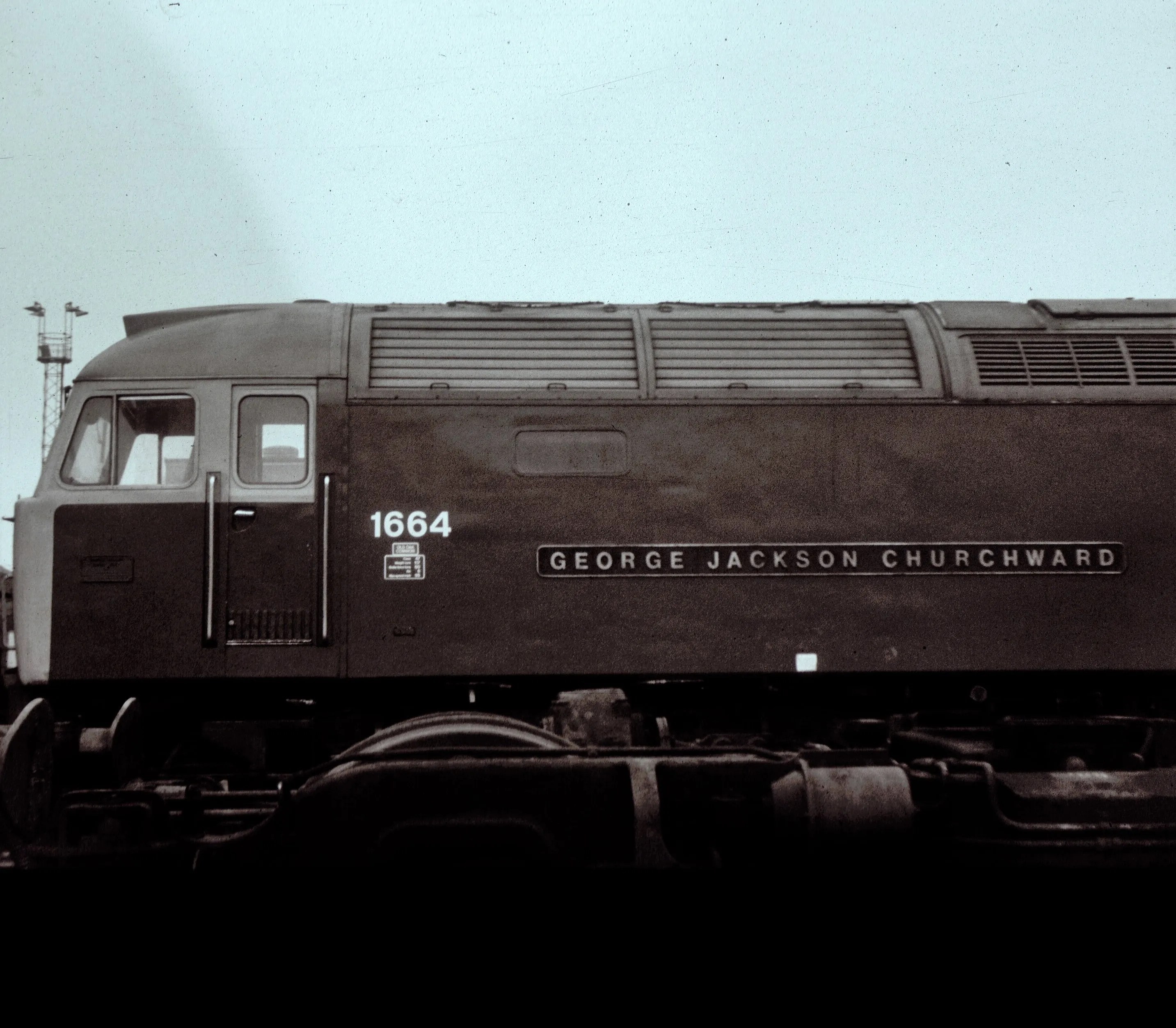 Class 47 locomotive at Crewe Works
