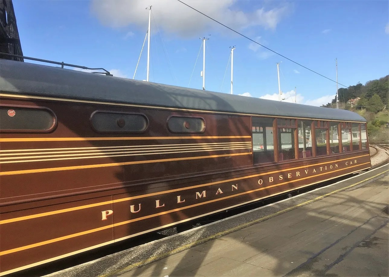 Pullman Observation Car on the Dartmouth Steam Railway