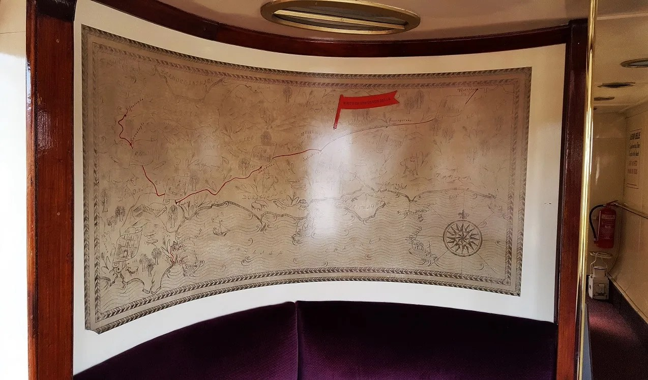 the route of the Devon Belle Pullman train