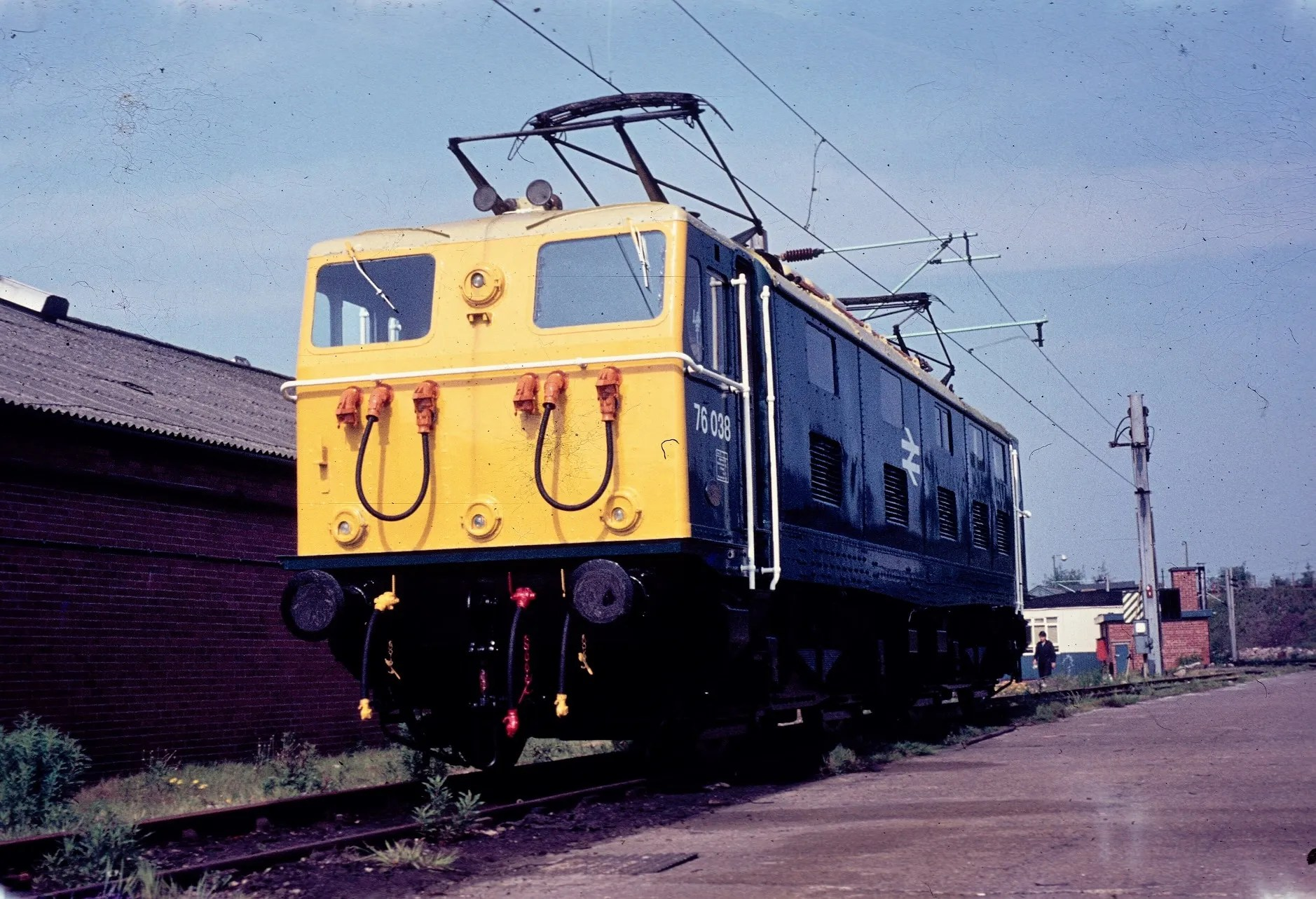Class 76 locomotive at Crewe Works