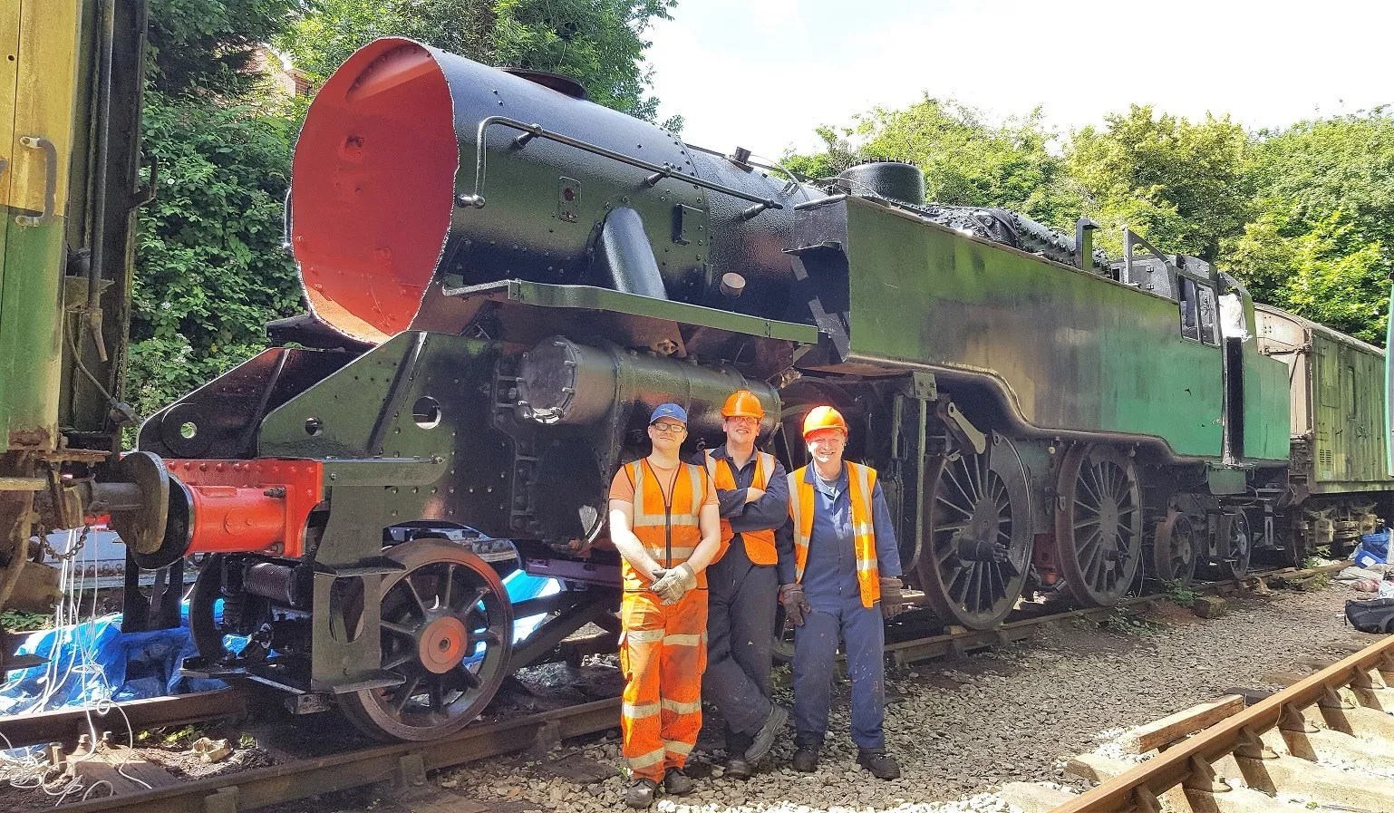 80150 at Alresford railway station on the Mid Hants Railway