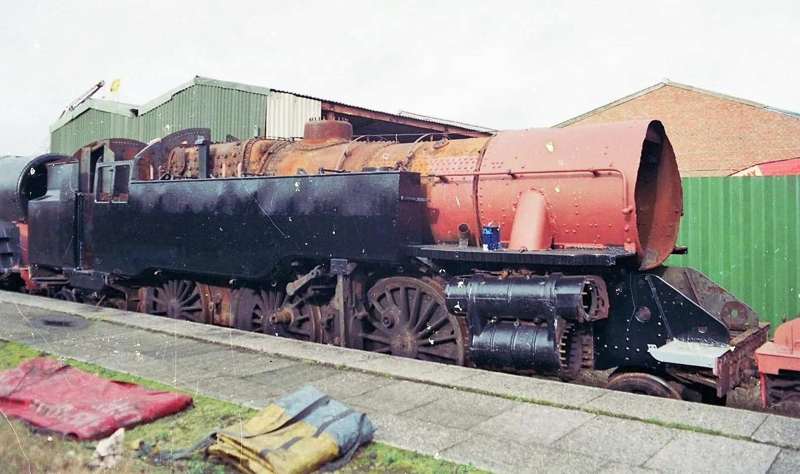 steam locomotive 80150 at Cardiff