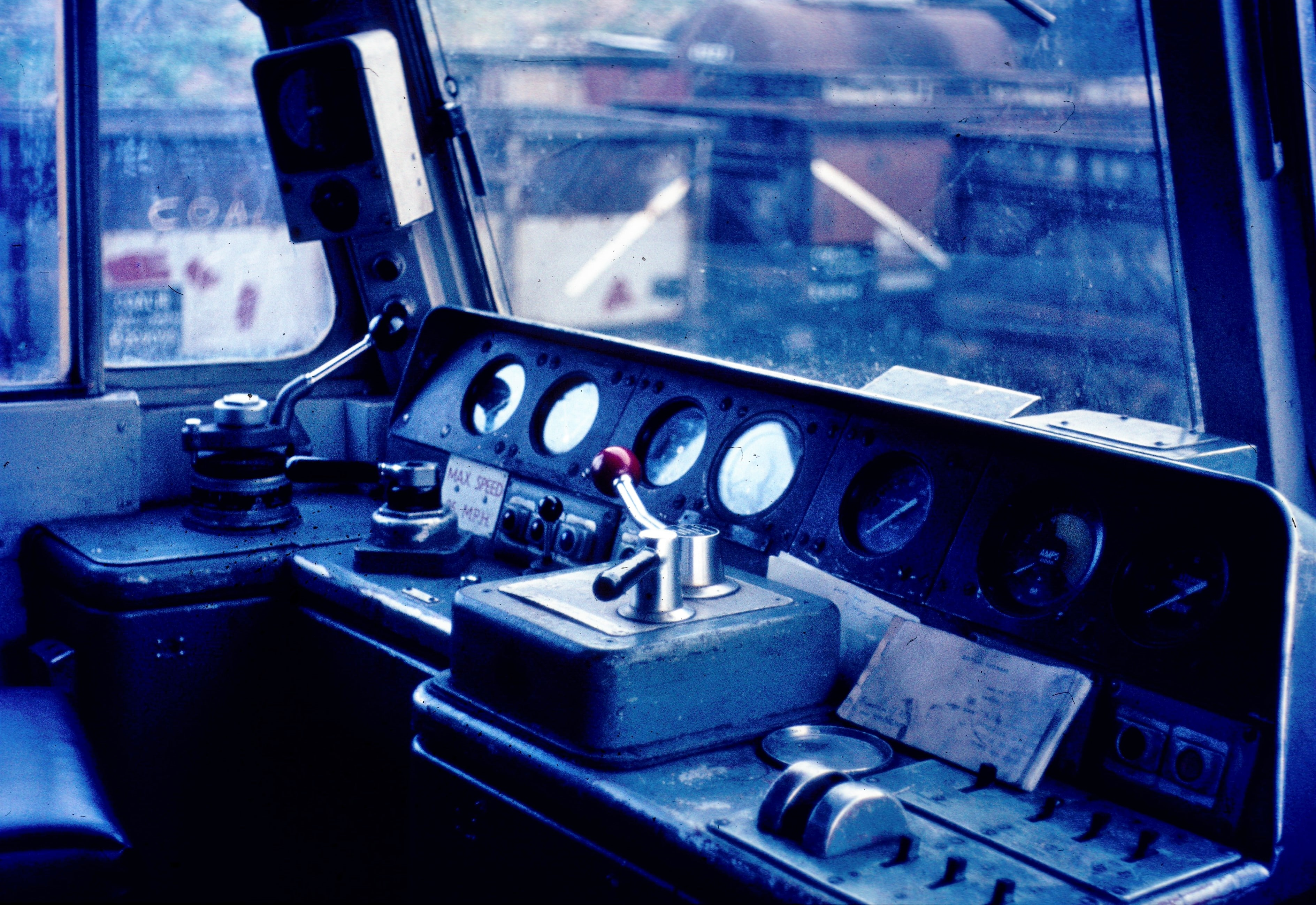 Class 47 diesel locomotive cab desk
