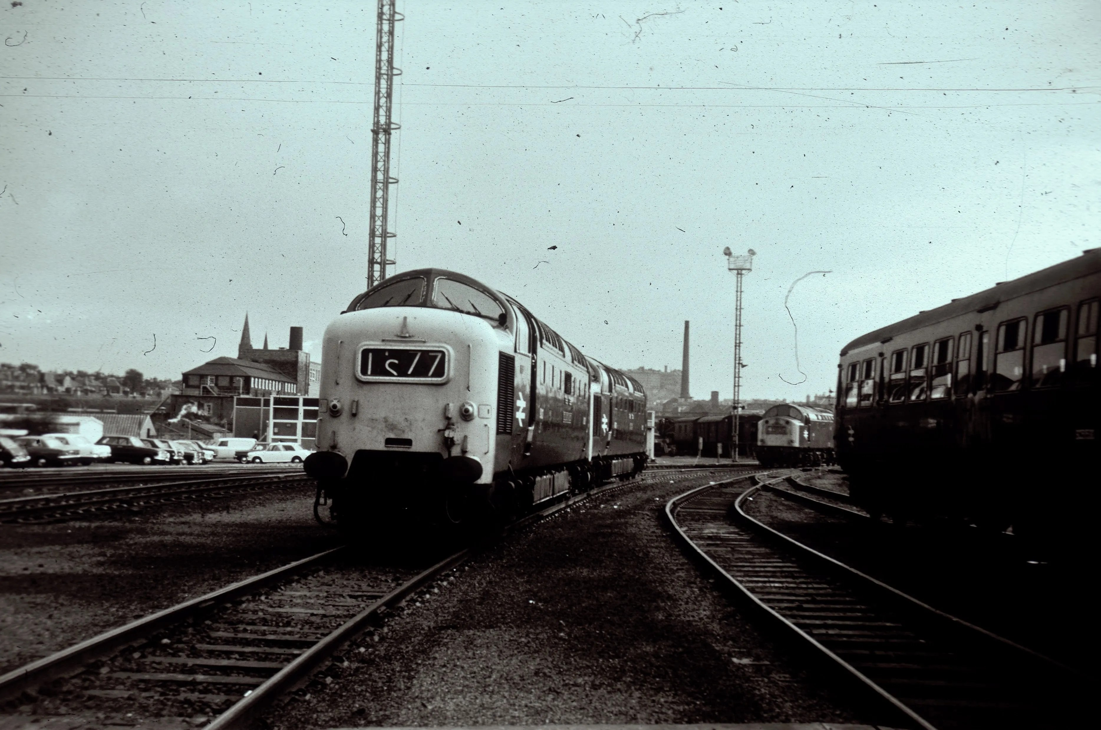 Deltic locomotives at Haymarket Railway Depot