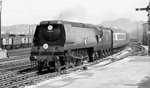 General Steam Navigation steam locomotive 35011 at Salisbury circa 1957