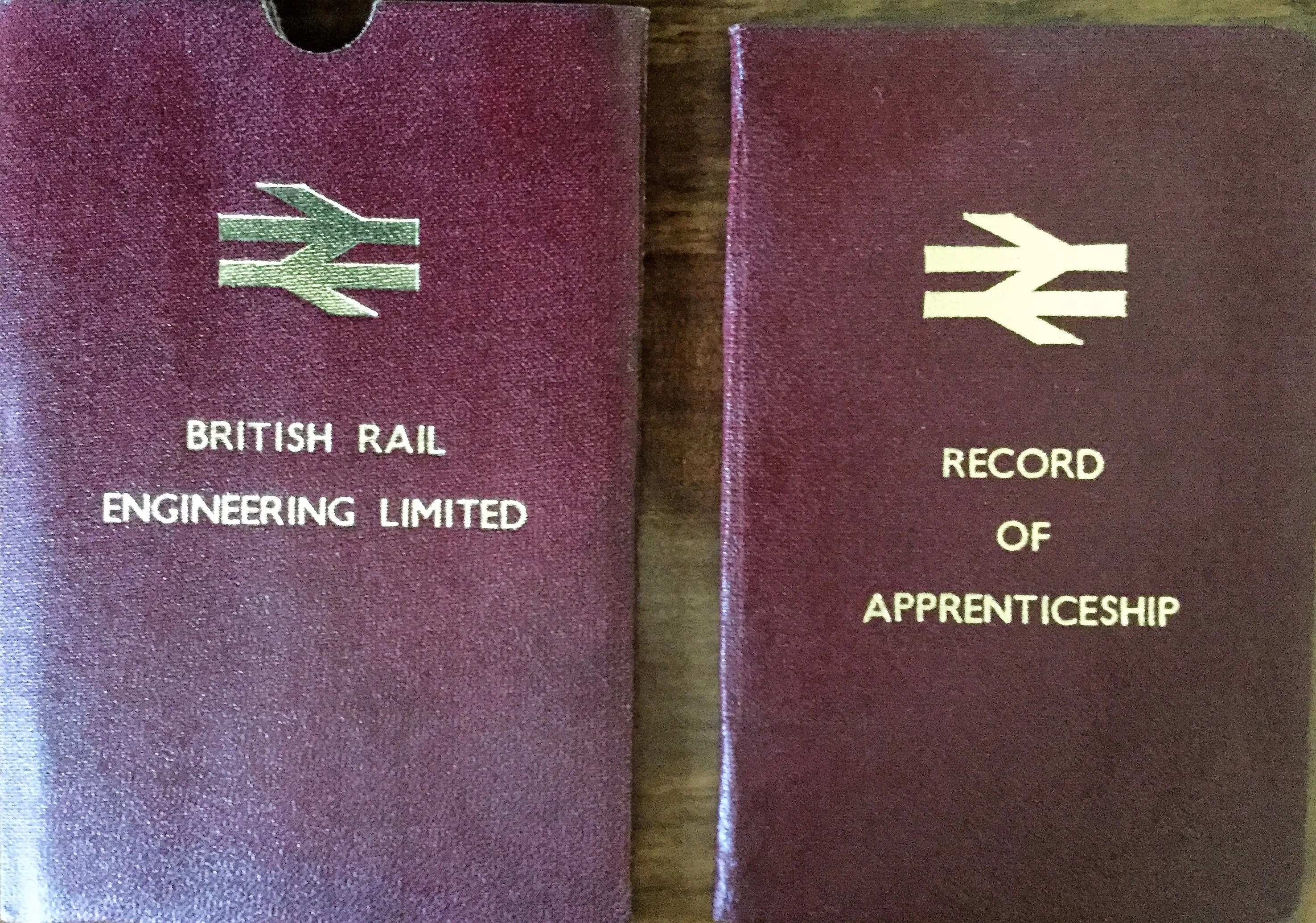 British Railways record of apprenticeship log book