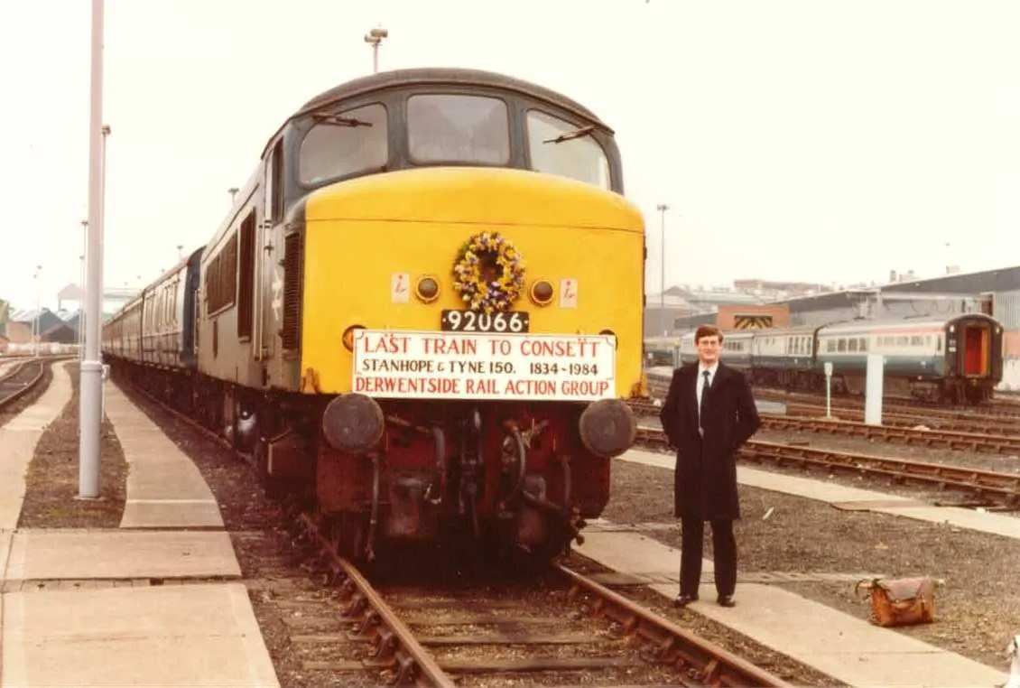 End of rail traffic to Consett Steel Works