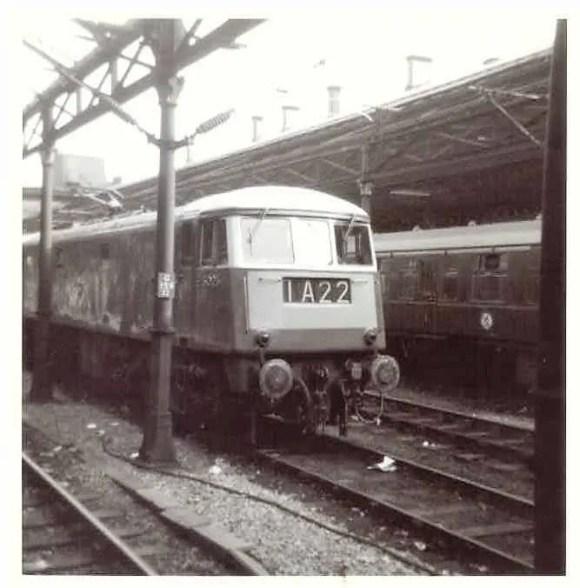 English Electric  locomotive class 83 AL3 at Crewe