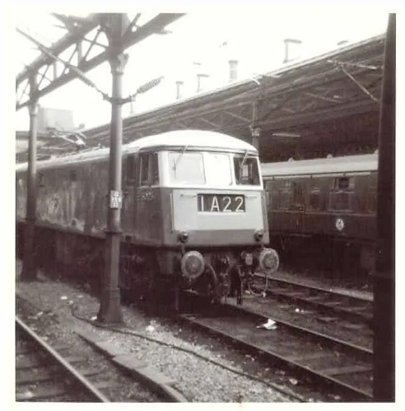 English Electric  locomotive class 83 AL3 at Crewe