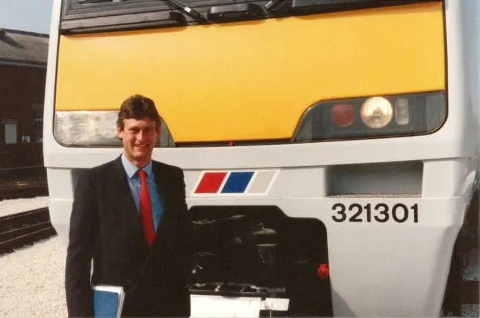 Class 321 EMU at BREL York Works summer 1988