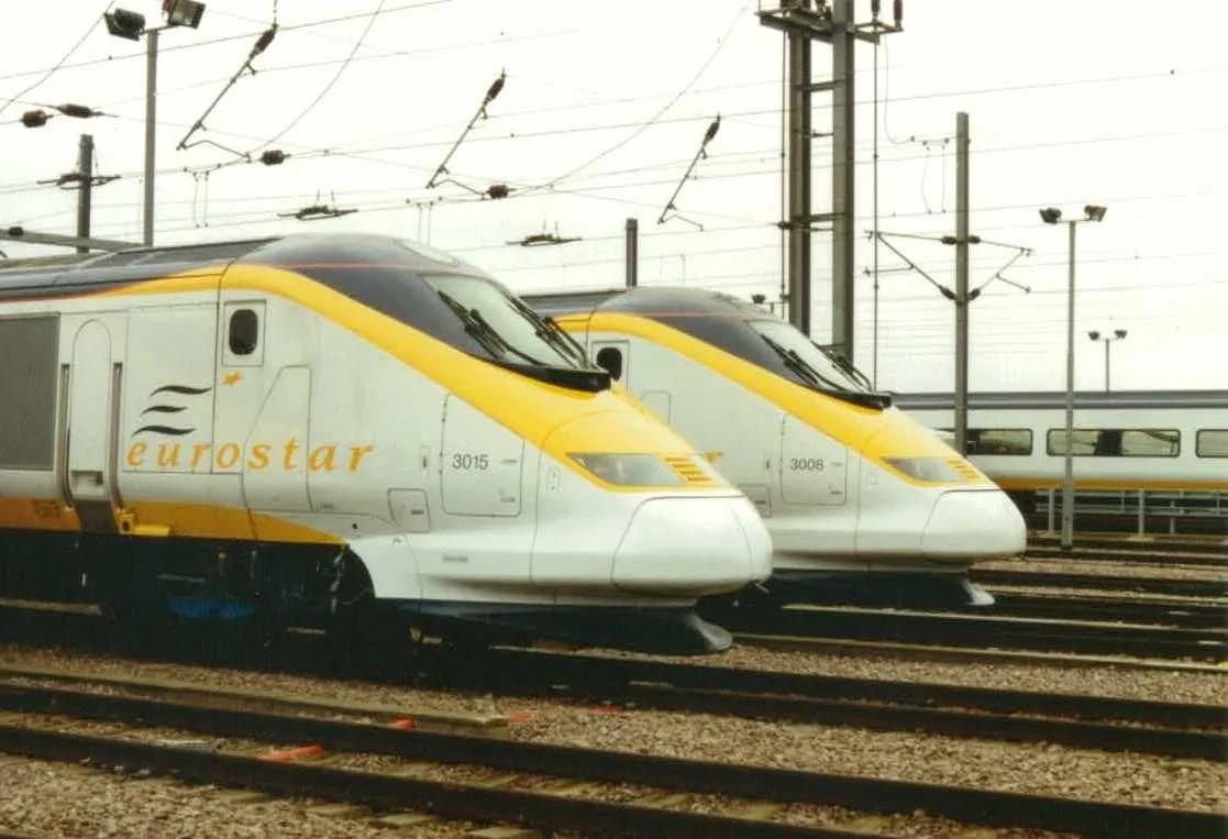 Eurostar fleet 1996 North Pole Depot