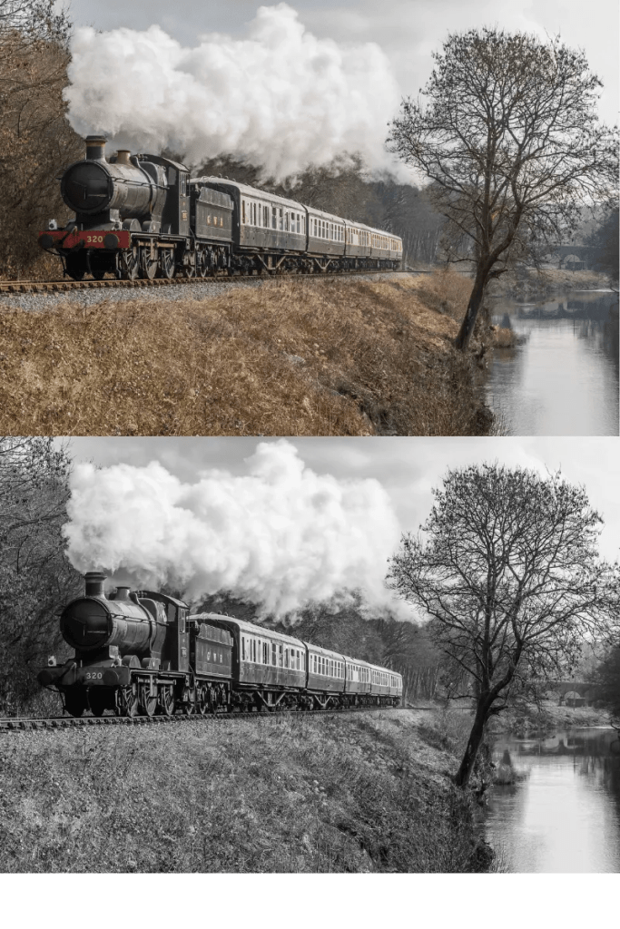 Steam Train Photography of  GWR 0-6-0 No: 3205 is near Hood Bridge on the South Devon Railway working the 10.35 Totnes to Buckfastleigh service on the 18th February 2017 during the 'Winter Gala'.