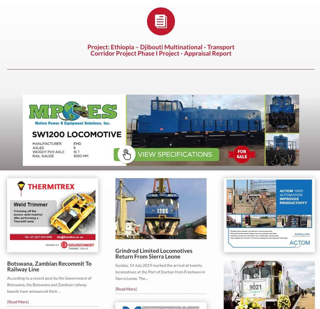 Railways Africa Magazine | News, Projects and Tenders for Africa Rail