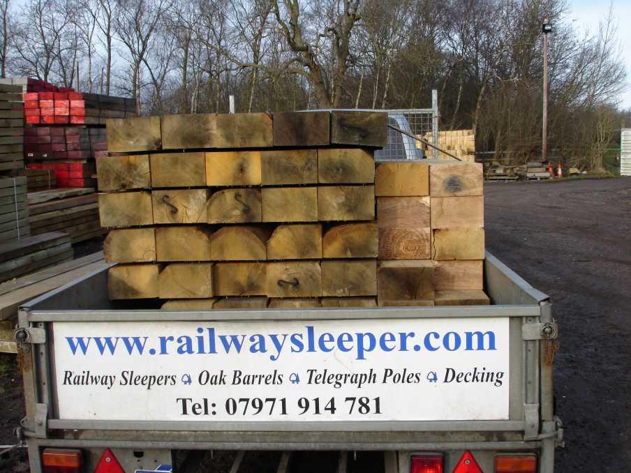 Delivery Railway Sleepers