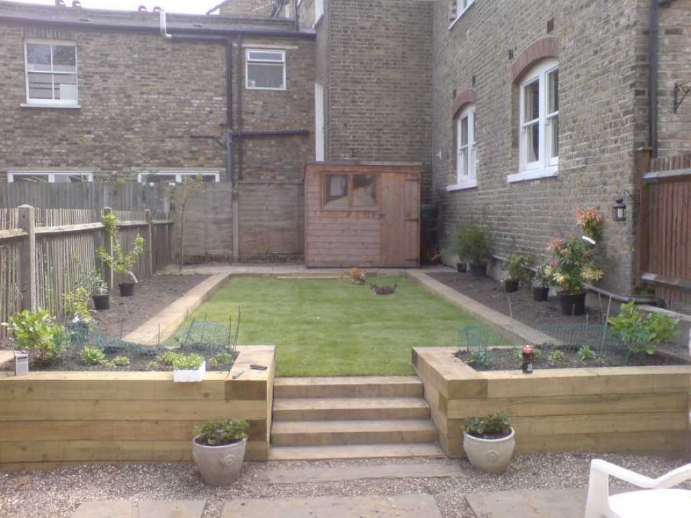 Raised Bed Projects With Railway Sleepers
