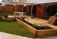 New Oxford railway sleeper patio & raised beds