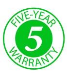 Five Year Warranty Logo