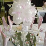 Baby Pink Balloon Topiary Tree With Feathers Rainbow Weddings Wedding And Events Specialists