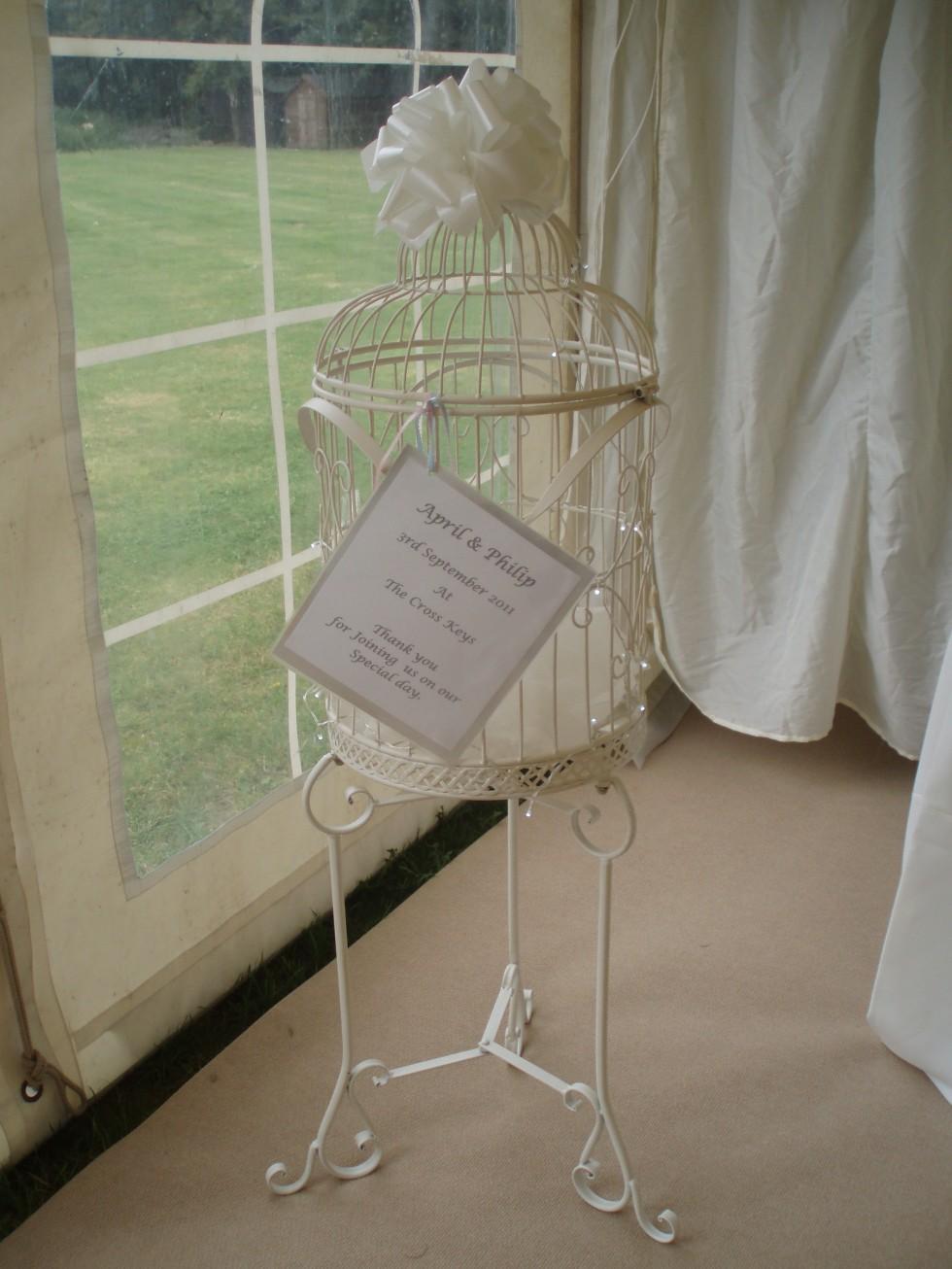 Vintage Range Large Floor standing Birdcage Post Box  Rainbow Weddings  Wedding and Events