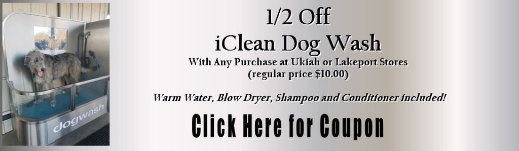 1/2 off iClean Dog Wash with any purchase