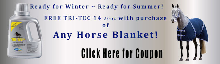Free Tri Tec 14 with any Horse Blanket purchase