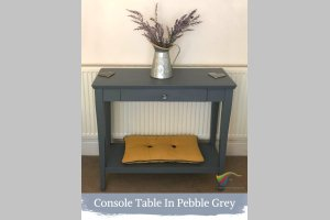 Pebble Grey Shabby Chic Furniture Paint The Liquid Chalk Specialists Console Table In Pebble Grey Shabby Chic Furniture Paint